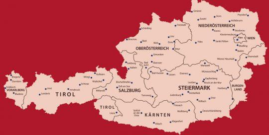 MOVI Weinregion Österreich Karte