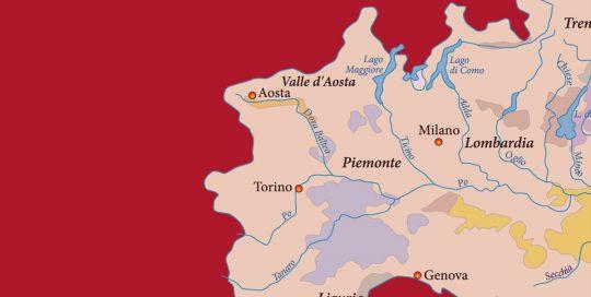 MOVI Weinregion Piemont Karte