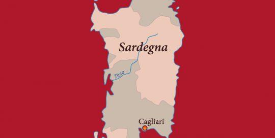 MOVI Weinregion Sardinien Karte