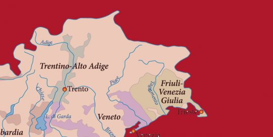 MOVI Weinregion Veneto Karte